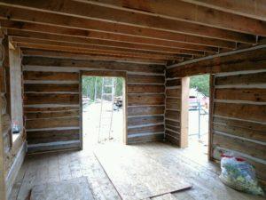 log home restoration after photo